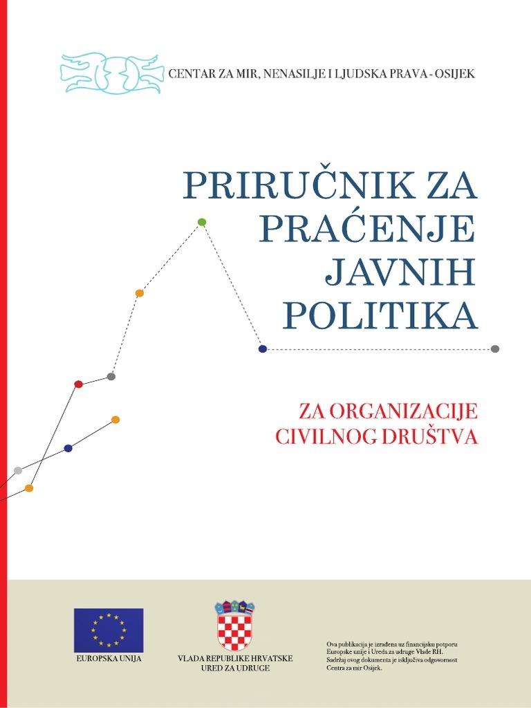 Priručnik za praćenje javnih politika : za organizacije civilnog društva