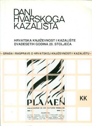 Dani Hvarskog kazališta: Hrvatska književnost i kazalište dvadesetih godina 20. stoljeća (29.dio)
